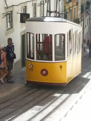 Tradisjonell trikk i Lisboa (foto: treasuresbyeveline)